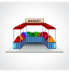 Market building isolated vector