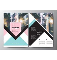 Minimal poster brochure flyer design layout vector