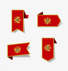 montenegrian flag stickers and labels vector image