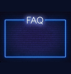 Neon sign faq frequently asked questions neon sign vector