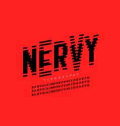 Nervous irritable style font design alphabet vector