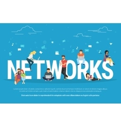 Networks concept vector