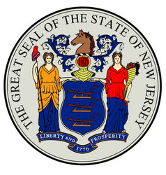 New jersey state seal vector