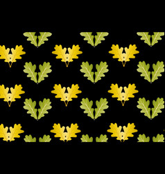 oak leaf on black background vector image