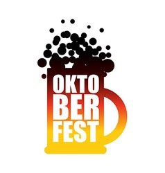 Oktoberfest beer mug Typographic National Holiday vector