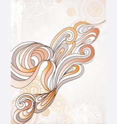 organic swirl vector image vector image