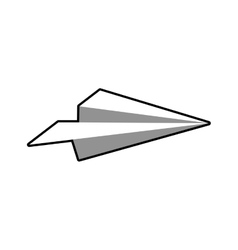 Paperplane fly plane creative icon graphic vector
