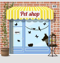 pet shop store vector image vector image