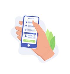 plane ticket app concept vector image