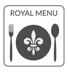 Royal menu sign vector
