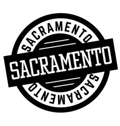 Sacramento black and white badge vector