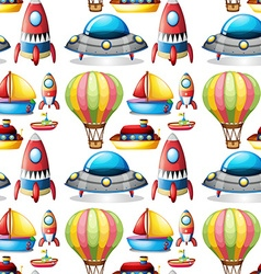 Seamless different kind of toys vector