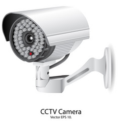 Security camera cctv eps 10 vector