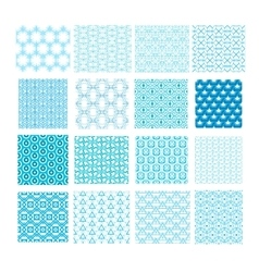 set abstract geometric seamless patterns vector image