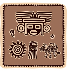 set of mexican design elements vector image