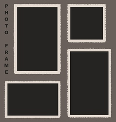 Set of Photo Frames with Rough Edges for Yo vector image