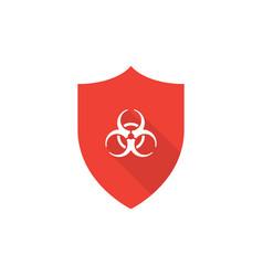 Shield with biohazard symbol vector