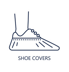 Shoe covers icon protective medical covers sign vector