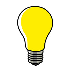 simple graphic a light bulb vector image