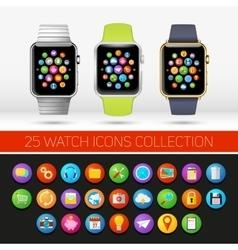 Smart watch variations vector