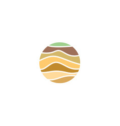 Soil layers geology logo icon element vector