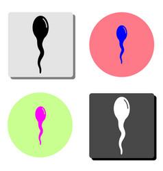 sperm flat icon vector image