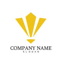 stripe triagnle company logo vector image