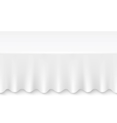 Tablecloth table vector