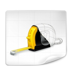 Tape measure drawing vector image