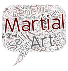 The Bliss of Martial Arts text background vector