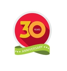 Thirty years anniversary logo 30 year birthday vector