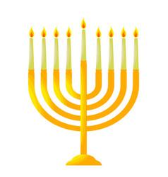 Traditional hanukkah candelabrum chanukiah vector