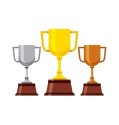Trophy winner cup isolated icon vector