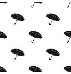 Umbrella icon in black style isolated on white vector
