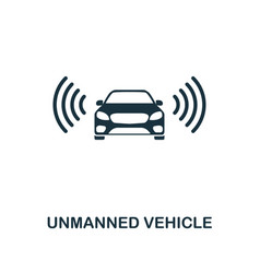 unmanned vehicle icon premium style design from vector image