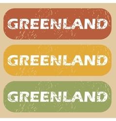Vintage greenland stamp set vector