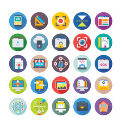 web design and development icons 4 vector image