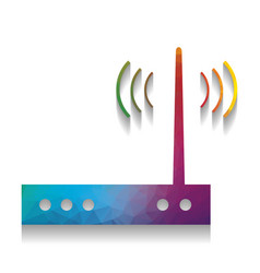 Wifi modem sign colorful icon with bright vector