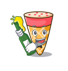 With beer ice cream tone mascot cartoon vector