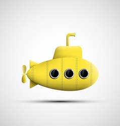 Yellow metal submarine vector image