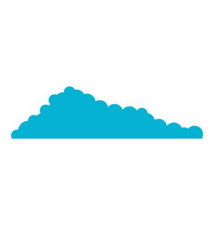 cloud blue and white background vector image vector image
