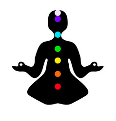 meditation pose with chakras vector image vector image