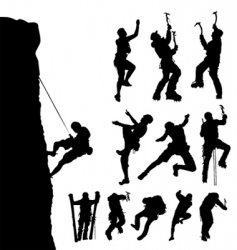 mountain climber vector image