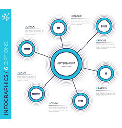 six options minimalistic creative infographic vector image