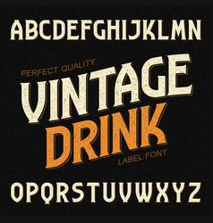 vintage drink label font ideal for any design in vector image vector image