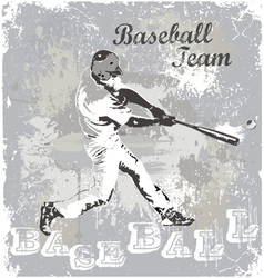 baseball hit vector image vector image