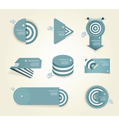 Blue set of paper labels with place for your own vector image vector image
