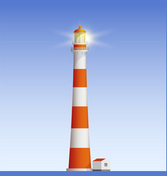 old lighthouse vector image vector image