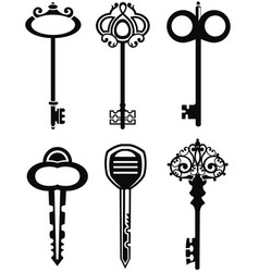 ornamental vintage keys with intricate forging vector image vector image