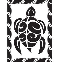 tiki turtle vector image
